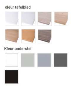Basic line tafel kleur tafelblad en onderstel