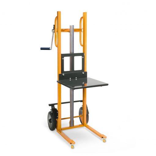 Materiaalheffer met platform - massief rubber band - 150 kg
