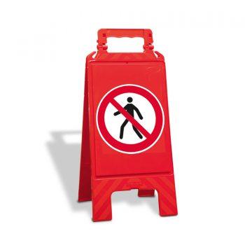 verbodsbord lopen