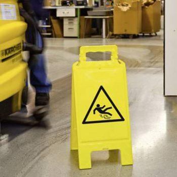 waarschuwingsbord gevaar voor uitglijden