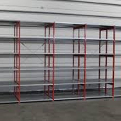 Gebruikte Bosal legbordstelling 2300 x 1000 x 500 mm rood
