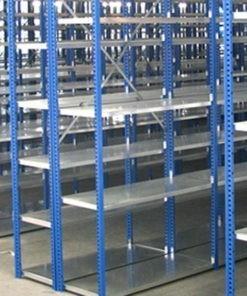 Gebruikte Schäfer legbordstelling 2200 x 1000 x 600 mm (hxbxd)