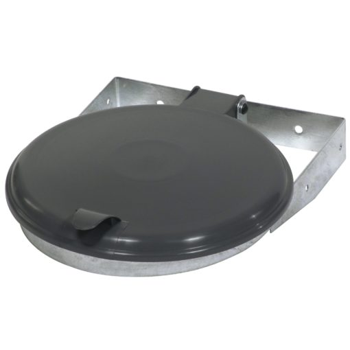 Afvalzak-wandklem 70-120 liter zwart deksel
