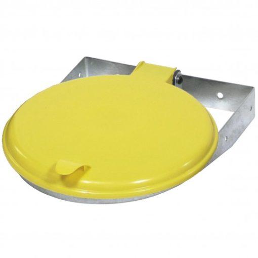 Afvalzak-wandklem 70-120 liter geel deksel