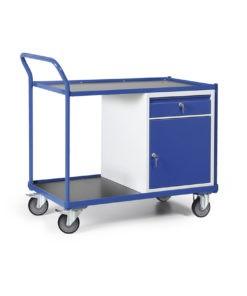 Werkplaatswagen met kastblok en schuiflade 250 KG draagvermogen