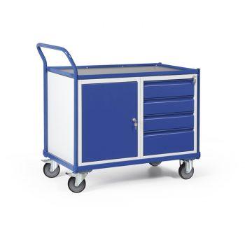 Werkplaatswagen met kastblok en schuifladen 250 KG draagvermogen