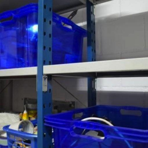 Gebruikte Bosal legbordstelling 2300 x 1000 x 500 mm blauw