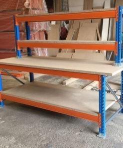 Stow werkbank 2700 x 1050 x 1000 mm (bxdxh) - 4 niveaus