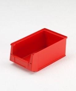 Magazijnbak 350 x 210 x 145 mm (lxbxh) rood