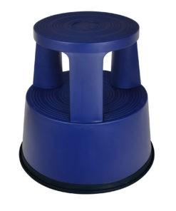 Opstapkruk Olifantenpoot Kunststof blauw
