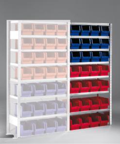 Meta Bakkenstelling Aanbouwsectie 2000 x 1000 x 400 mm (hxbxd) inclusief 7 legborden