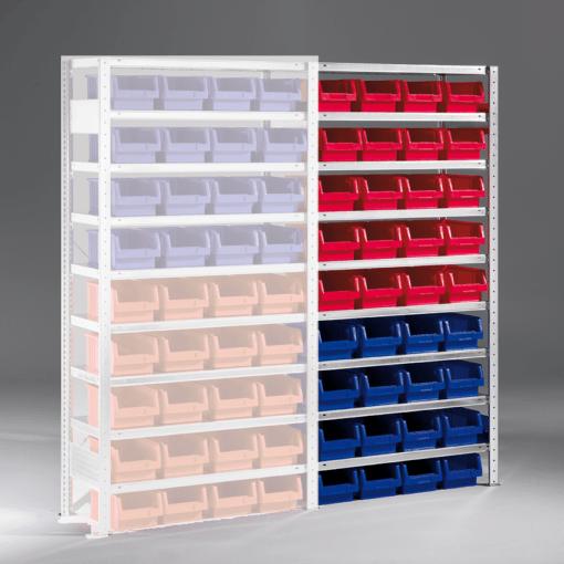 Meta Bakkenstelling Aanbouwsectie 2000 x 1000 x 400 mm (hxbxd) inclusief 9 legborden