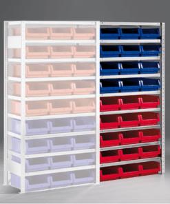 Meta Bakkenstelling Aanbouwsectie 2000 x 1000 x 500 mm (hxbxd) inclusief 9 legborden