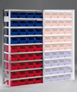 Meta Bakkenstelling Basissectie 2000 x 1000 x 400 mm (hxbxd) inclusief 9 legborden