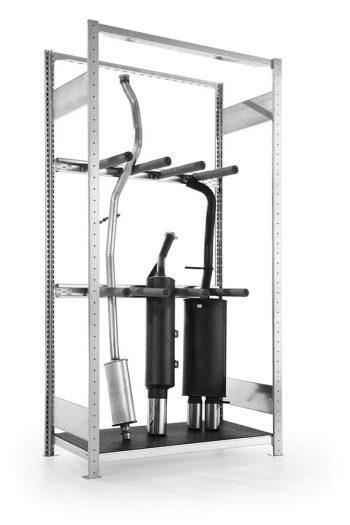 META Uitlaatstelling Basissectie 2000 x 1000 x 400 mm (hxbxd)