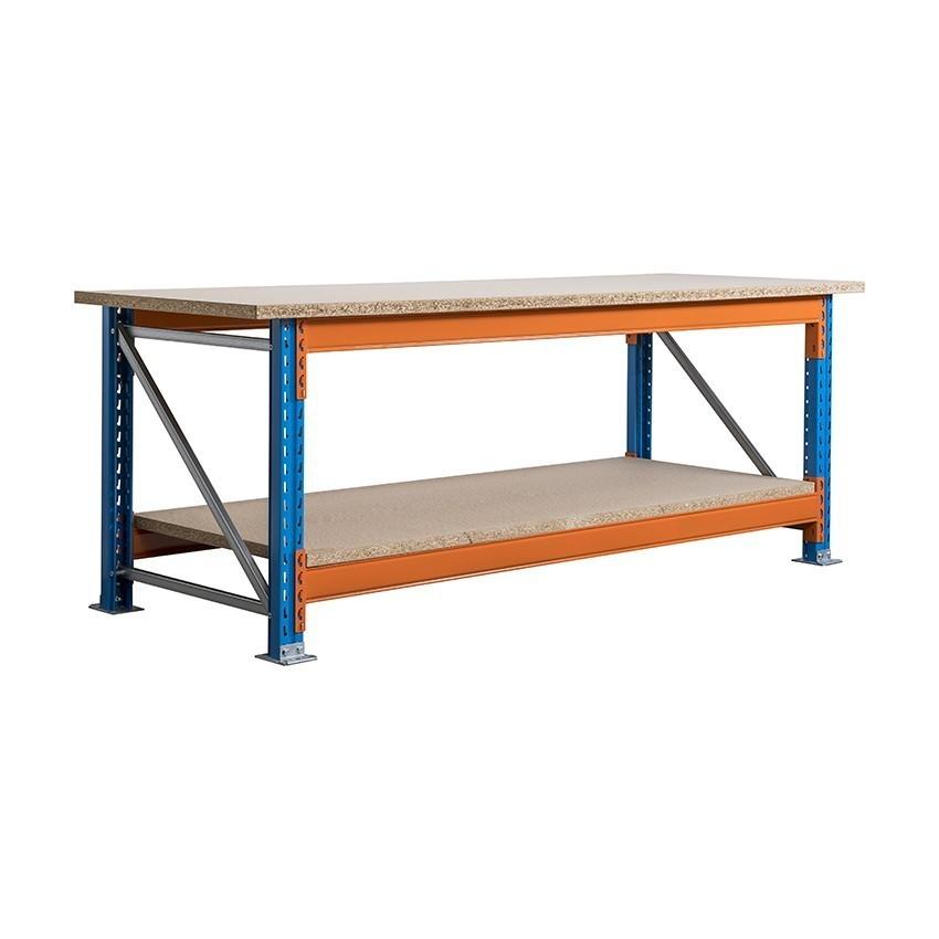 Stow werkbank 2700 x 900 x 1000 mm (bxdxh) inclusief topblad + 1 niveau