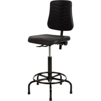Werkstoel PUR met spinvoet