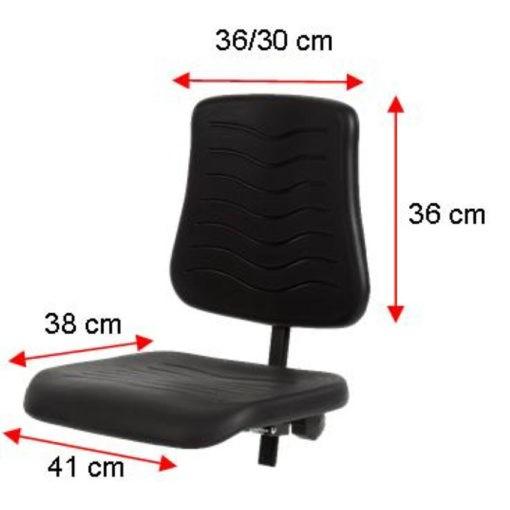 Werkstoel PUR met spinvoet kunststof