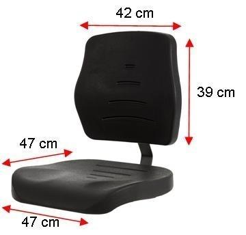 Werkstoel PUR met spinvoet aluminium