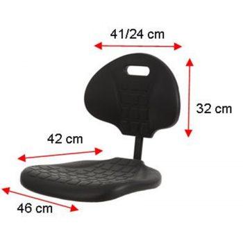 Werkstoel PUR met wieltjes