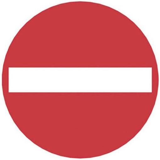 Waarschuwingsbord - Verboden in te rijden
