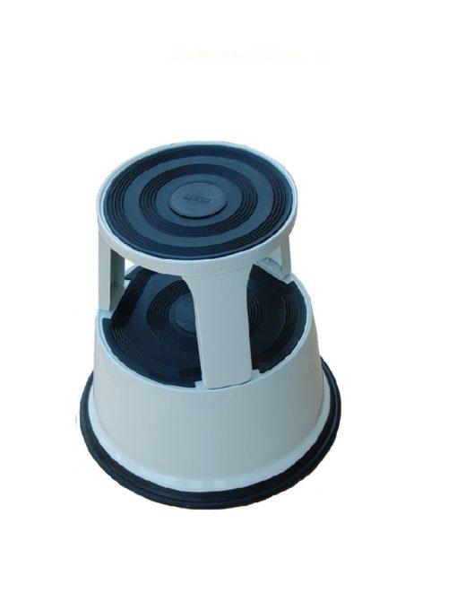 Opstapkruk Olifantenpoot Aluminium grijs