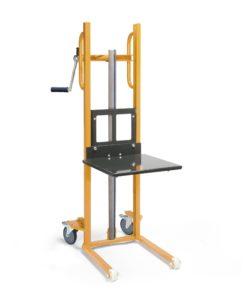 Materiaalheffer met platform - massief rubber band - 100 kg