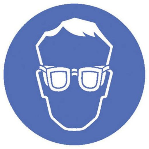 Waarschuwingsbord - Bril dragen