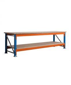 Stow werkbank 360 x 100 cm (bxh) - 2 niveaus