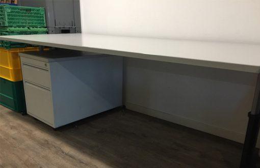 Bureau met ladeblok 200x90x75