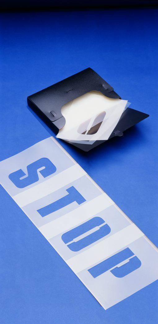 Sjabloonset letters en cijfers 15 cm