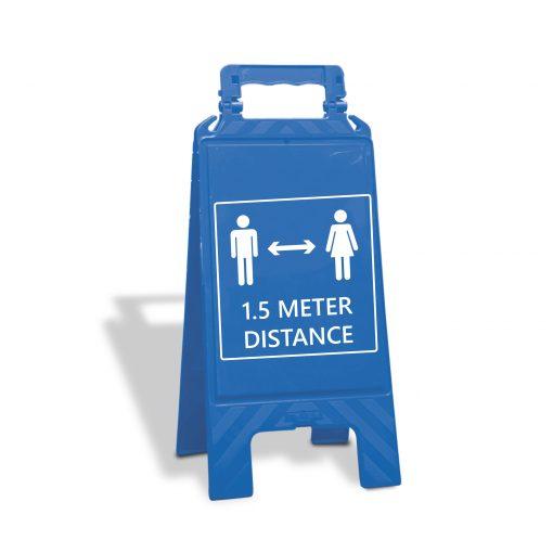Uitklapbaar bord 1.5 meter afstand houden