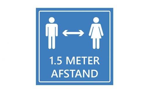 Adviesbord 1.5 meter afstand houden - blauw