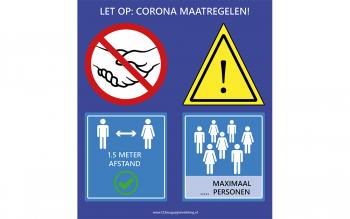 Coronabord 1.5 meter maximaal aantal personen
