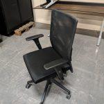 Gebruikte bureaustoel gaas zwart