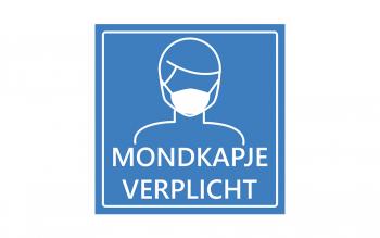 Adviesbord mondmasker - blauw