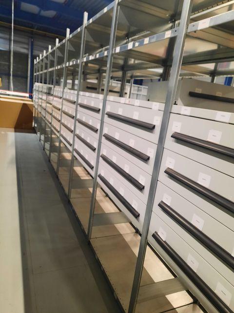 META legbordstelling inclusief lades 250 x 100 x 60 cm