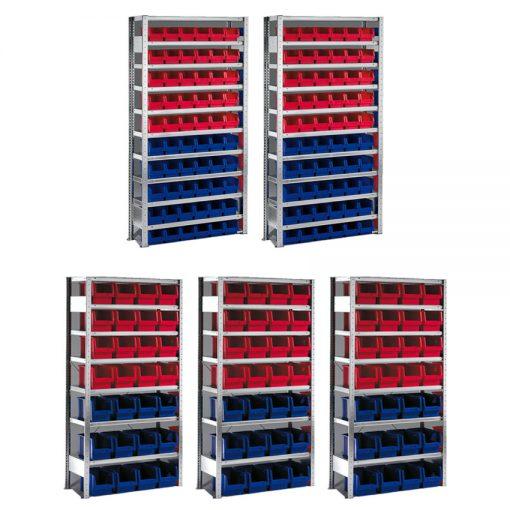 Meta Bakkenstellingen 200 x 100 x 30/40 cm (hxbxd) - 5 basissecties - ACTIE!